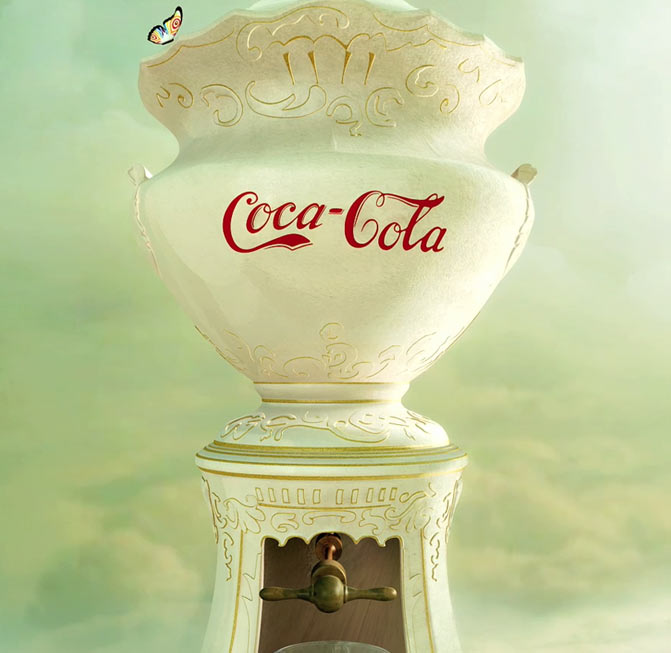 Coke Fountain Work Photo